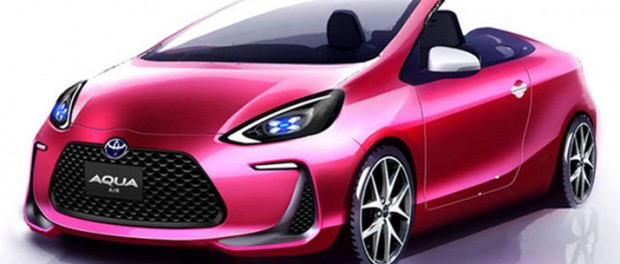 Toyota teasar konceptet Aqua Air Roadster