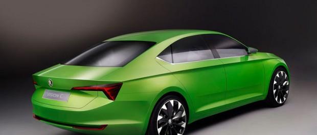Så här ser Skoda VisionC Concept ut