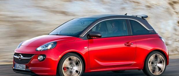 Opel sportar till Adam med ett S