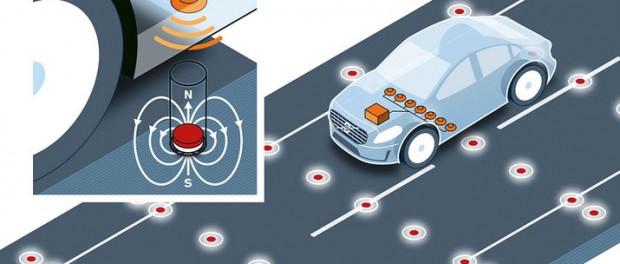 Volvo provar magneter i vägen
