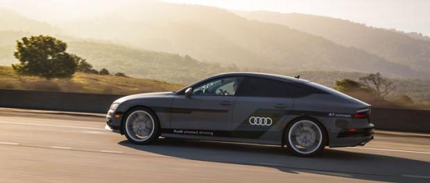Självkörande Audi på väg till CES-mässan