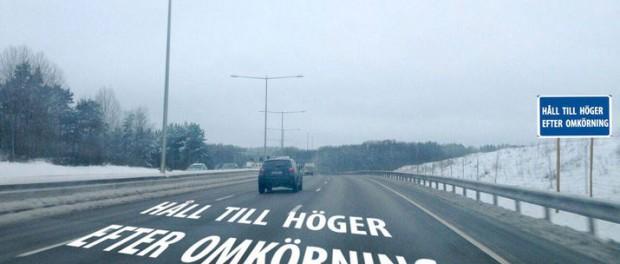 Håll till höger på motorvägen!