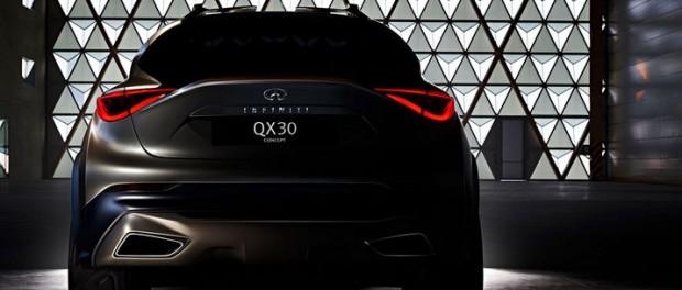 Infiniti visar rumpan på den nya konceptbilen QX30