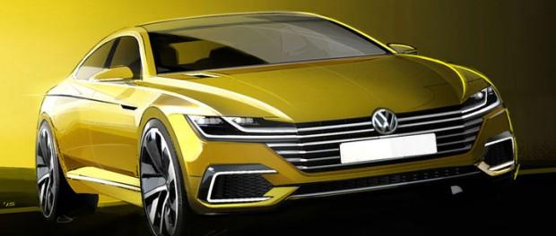 Skisser på nästa Volkswagen Passat CC