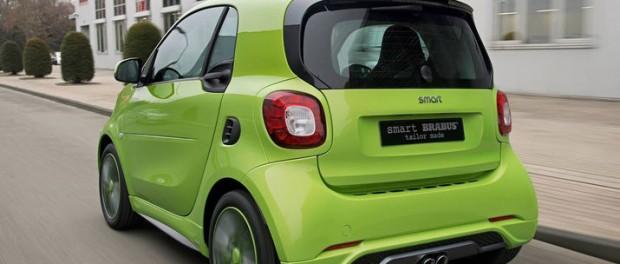 Två bilder på nya Smart Brabus