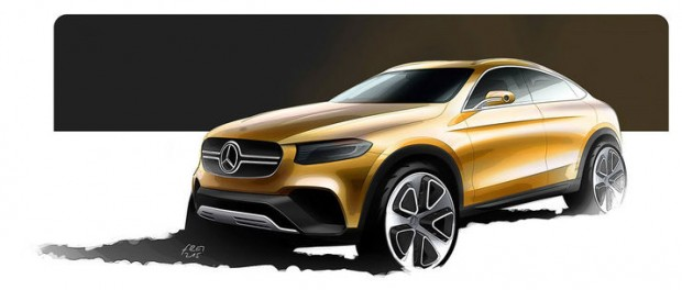 Skiss på Mercedes GLC Coupé