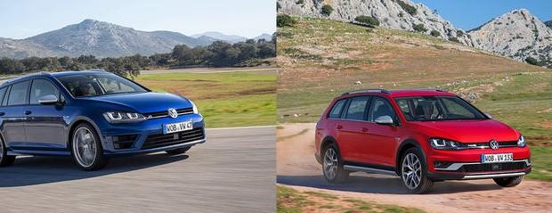 Sverigepremiär för Volkswagen Golf Alltrack och Golf Sportscombi R