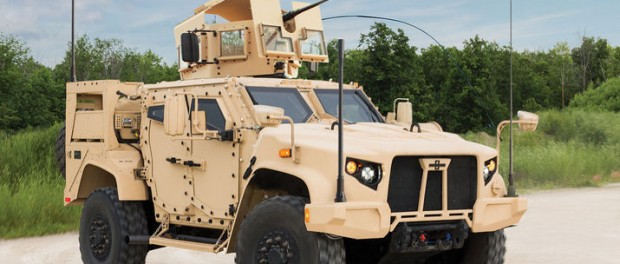 Nu dumpar den amerikanska militären Humvee