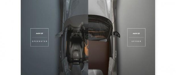 Mazda plockar med sig Miata Spyder och Speedster till Sema